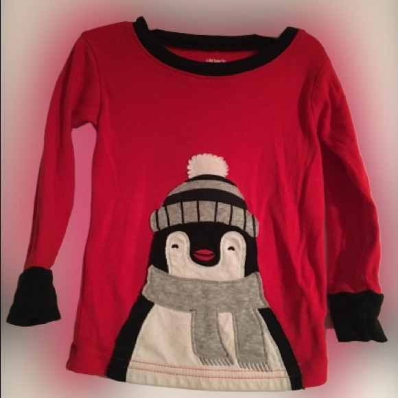 Carter's Other - {Carter's} Red Penguin Long-Sleeve Tee